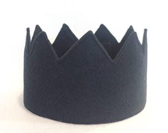 FULL SIZE Navy Blue Felt Crown, Boys First Birthday Crown, Navy Blue Felt Crown, First Birthday Crown, Felt Birthday Crown, Cake Smash Crown