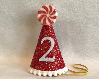 Christmas Birthday Hat Holiday Candy Cane Girls 2nd Santa