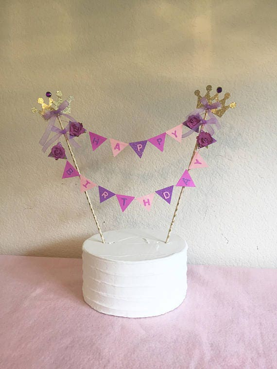 Rapunzel Birthday Cake Bunting Topper Tangled