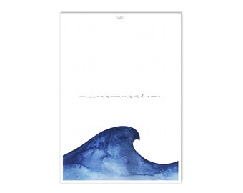 SEA Poster, Sea Noise, Wave, Ocean, A4 or A3