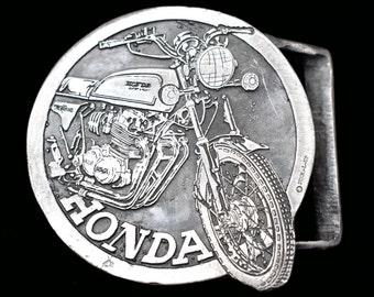 HONDA RIDER DIRT BIKE MOTOCROSS BELT BUCKLE 1970/'s