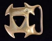 1970 Duncan Laurie Solid Brass Vintage Belt Buckle