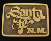 Santa Fe New Mexico Vintage Belt Buckle - 1970s CDC Metalworks