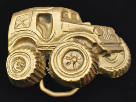 Lifted Jeep Monster Truck Buggy 1970s Solid Brass