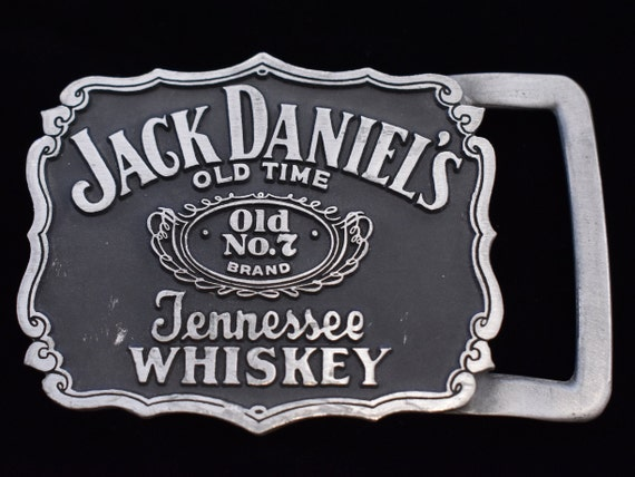 7 Belt Buckle Metallic Jack Daniels Silver Old No