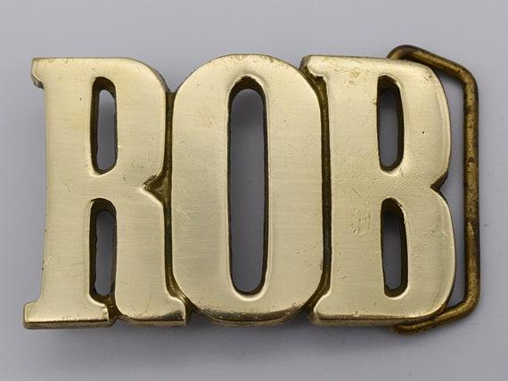 Floyd Name Solid Brass Vintage Belt Buckle