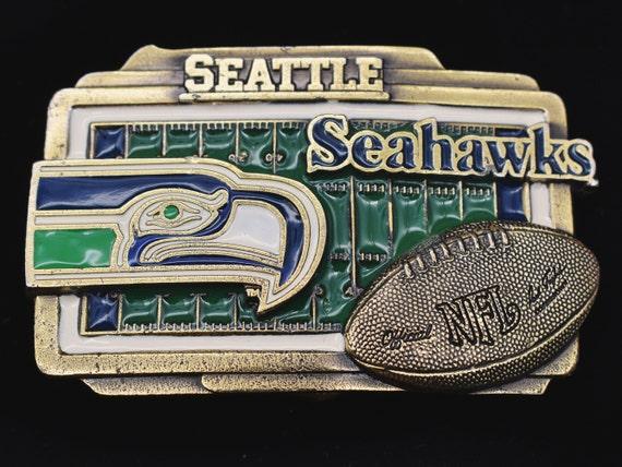 Seattle Seahawks Football Field Vintage Belt Buckl