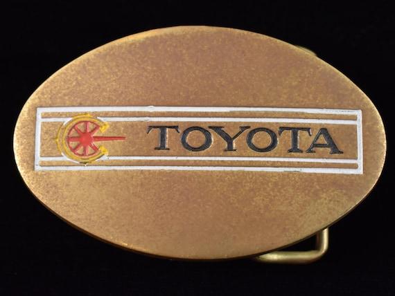 Toyota 1970s Solid Brass Vintage Belt Buckle - image 1