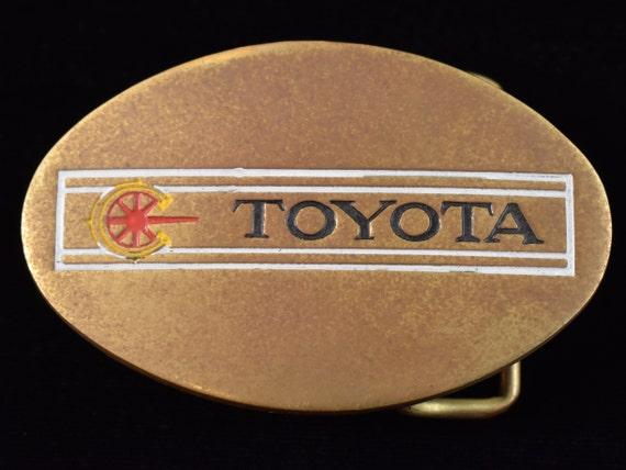 Toyota 1970s Solid Brass Vintage Belt Buckle