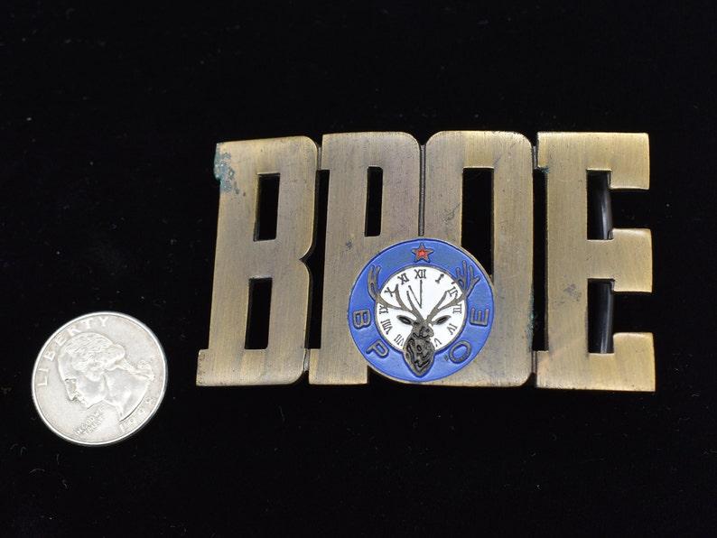 BPOE Society Elks Lodge Vintage Belt Buckle