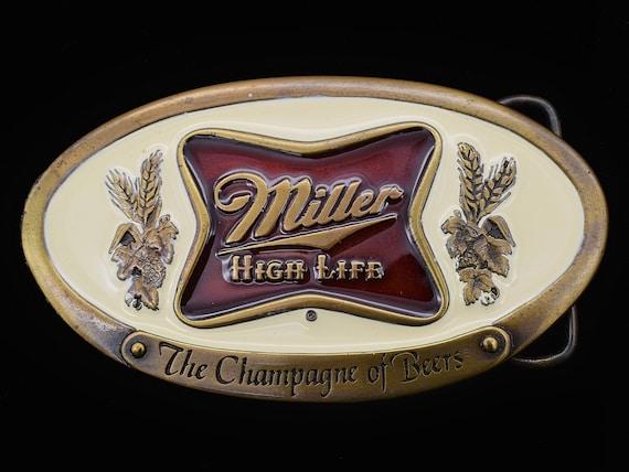 Vintage 80s Miller High Life Belt Buckle