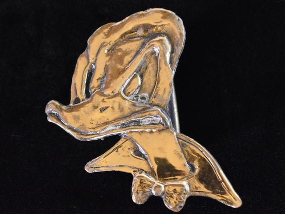 Disney Fishing Vintage Brass Belt Buckle Collectible