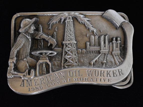 POSTAL WORKER BELT BUCKLE LIMITED EDITION ~~ NEW S ARROYO GRANDE 1986 PEWTER U