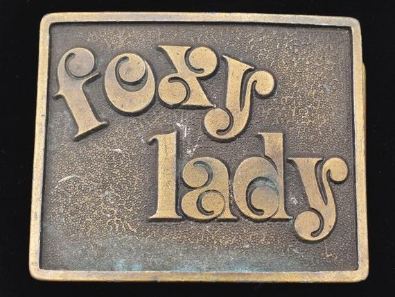 Foxy Lady Vintage Belt Buckle