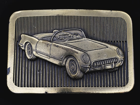 1950s Model Chevy Corvette Vintage Belt Buckle - image 1