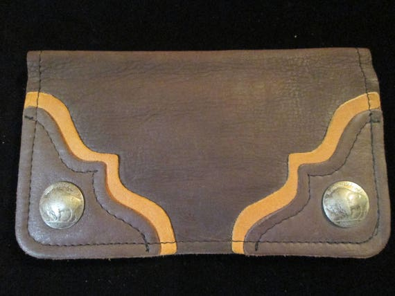Vintage Buffalo Trading Co. Buffalo Hide Leather C