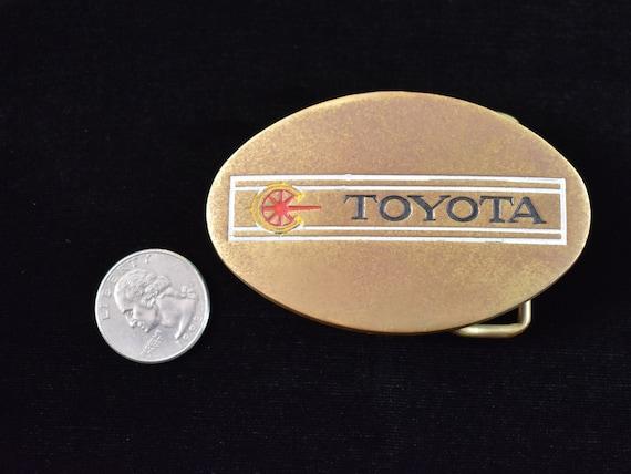 Toyota 1970s Solid Brass Vintage Belt Buckle - image 3