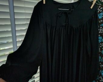 80's retro darkly decadent goth monk dress, free size!