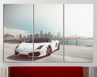 Lamborghini Canvas Etsy