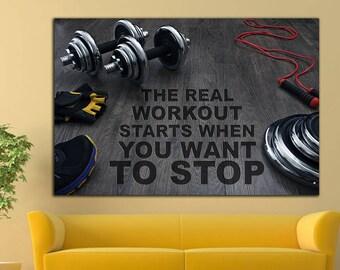Gym wall art etsy