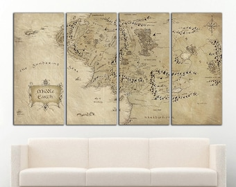 Middle earth map | Etsy