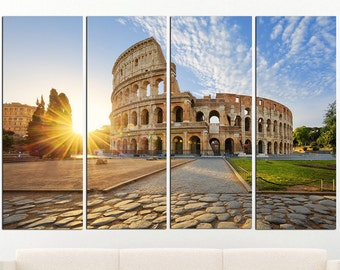 Art ROME ITALY  COLOSSEUM PHOTO  PRINT  ON FRAMED CANVAS WALL ART HOME DECORATION