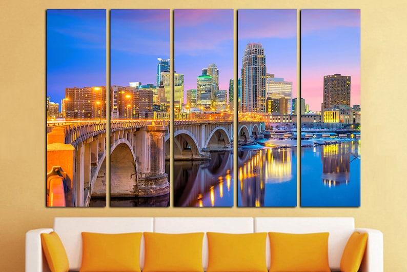 Minneapolis Wall Art Home Decor City