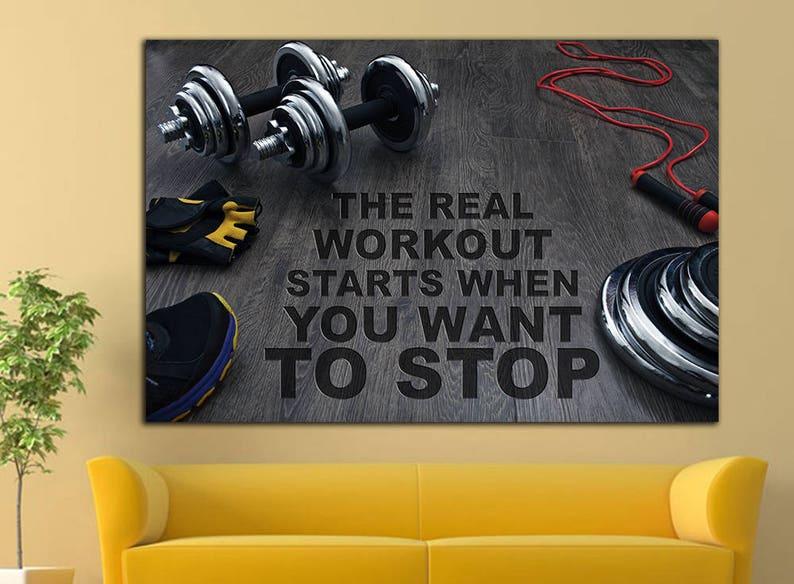 Gym motivation workout motivation print crossfit motivation etsy