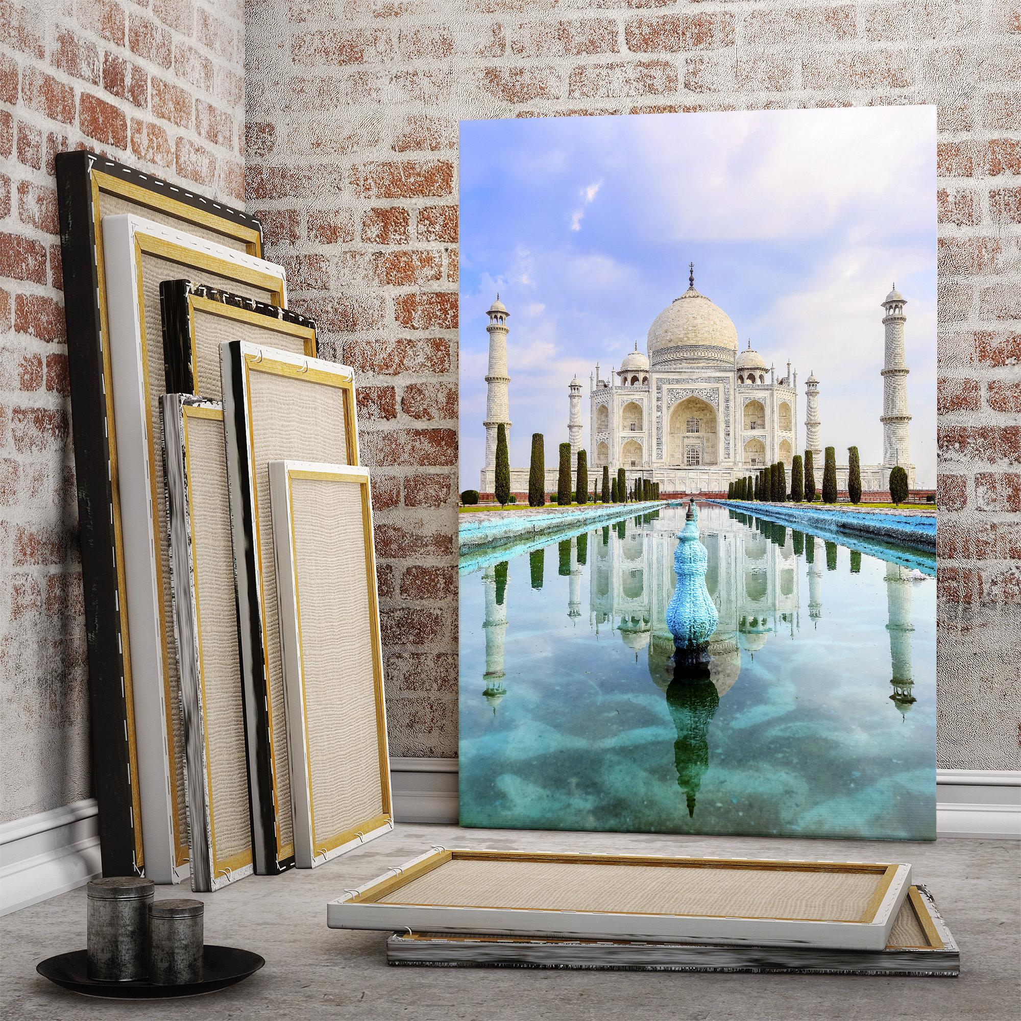 Rolled Taj Mahal Temple by Split 5 PanelsCanvas 5 Panels Wall art HD