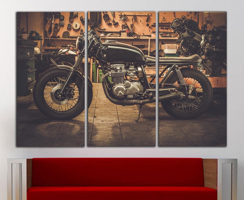 Motorbike wall art motorbike wall decor motorbike canvas motorbike print motorcycle wall art motorcycle decor large bike canvas print decor