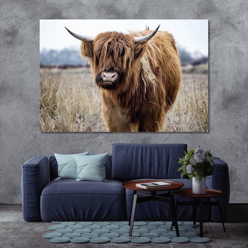 Highland Bull large wall decor