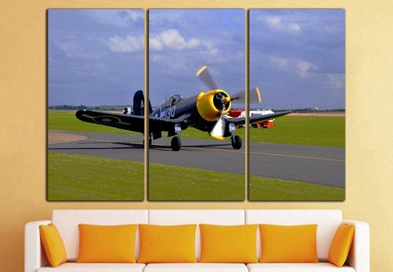 Aircraft Canvas Wall Art Airplane Wall Art Airplane Canvas Art