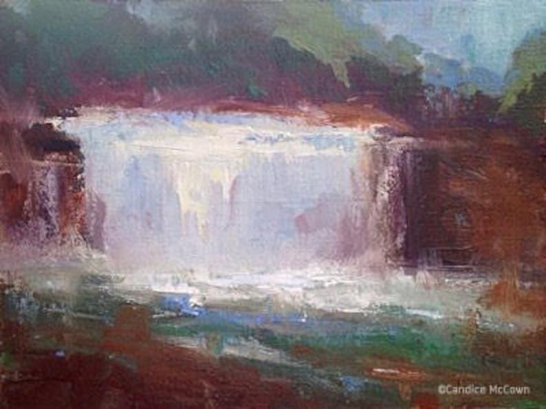 Original Art Fine Art Paintings Kentucky Landscape Wall Art Weisenberger Mill Waterfall Original Landscape Oil Painting