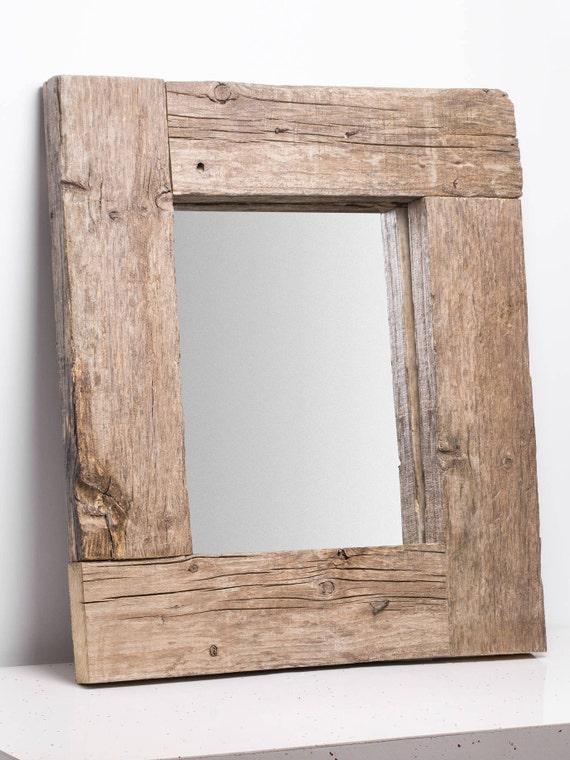 Vetusto. Marco de espejo rústico de madera vieja. | Etsy