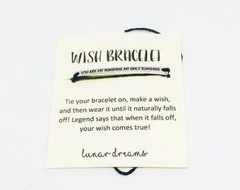 You Are My Sunshine Wish Bracelet - You Are My Sunshine Jewelry - Sunshine - You Are My Sunshine Gifts - You Are My Sunshine Kids
