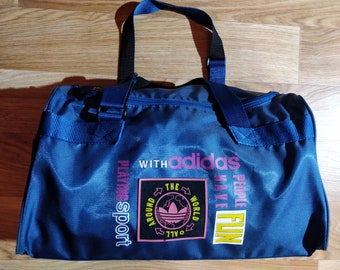 04623520a3 Adidas Originals 80 s Vintage West Germany Bag Travel Sport GYM Duffle  Colored