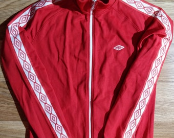 346764ad37 Umbro Vintage Mens Tracksuit Top Jacket Training Red White