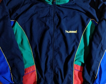 2b165f6e320 Hummel 90's Vintage Mens Tracksuit Top Jacket Colored Hype