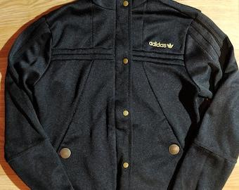 5fce3ed5600 Adidas Originals 90 s Vintage Womens Tracksuit Top Jacket Black Gold