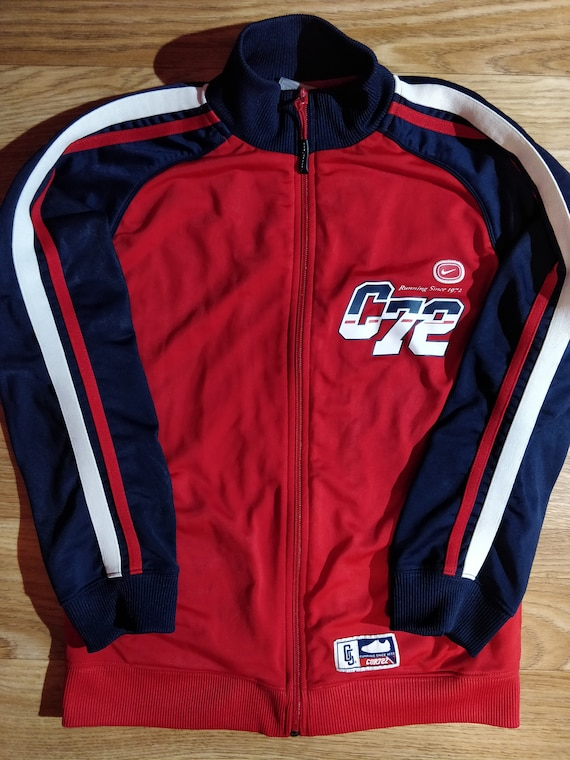 Cortez femmes COR72Z Nike Running Top veste de survêtement rouge bleu marine