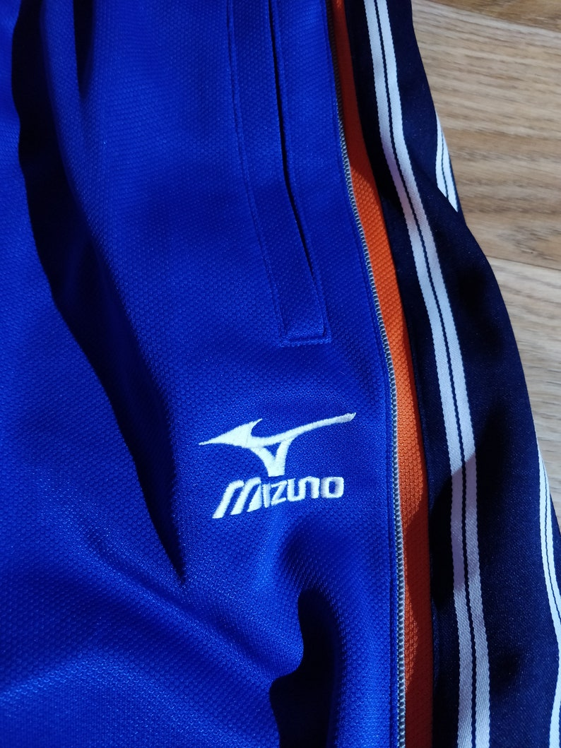 Mizuno Japan Mens Tracksuit Pants Trousers Training Blue Striped