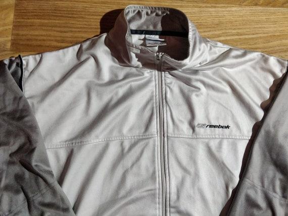 Reebok 90's Vintage Mens Tracksuit Top Jacket Gray - image 3