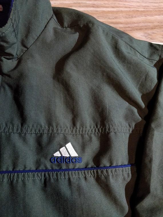 Adidas 90's Vintage Mens Tracksuit Top Jacket Khaki Dark Olive