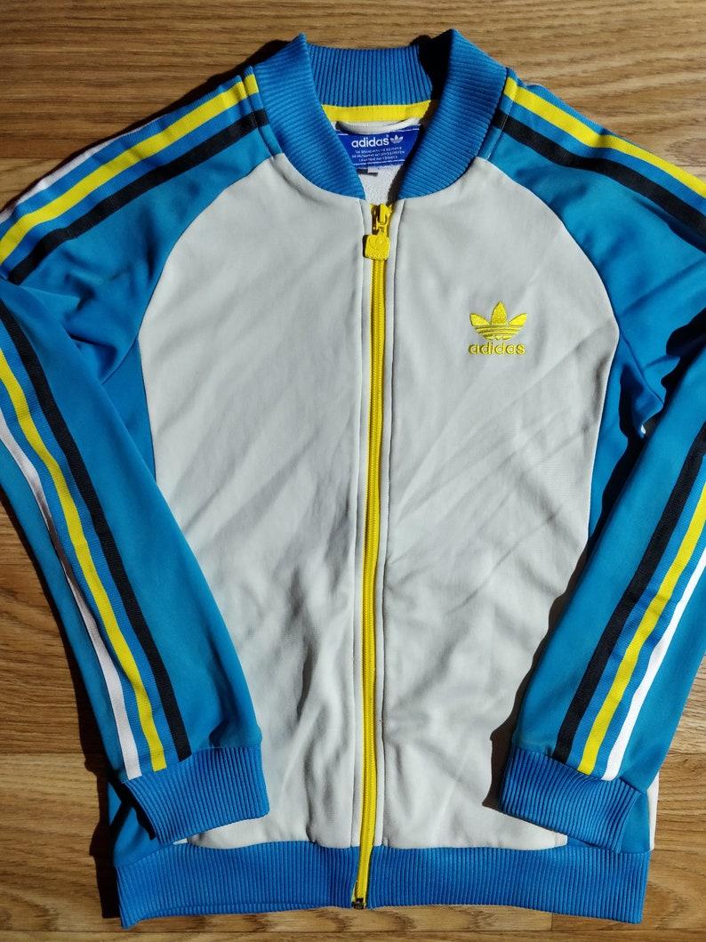 Survêtement Veste Womens Originals Vintage Blanc Top Bleu S 90 ' Adidas OuTPkZiXw
