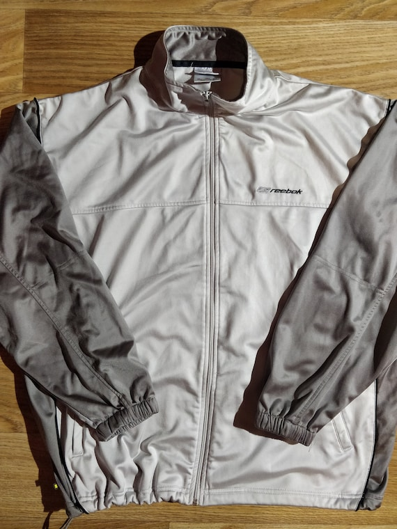 Reebok 90's Vintage Mens Tracksuit Top Jacket Gray - image 1
