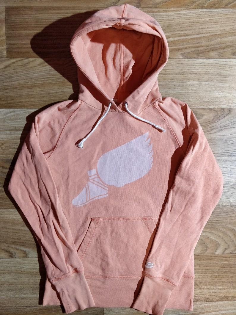 Nike Track & Field Weinlese Frauen Hoodie Anzug Jacke Jacke mit Kapuze Pfirsich