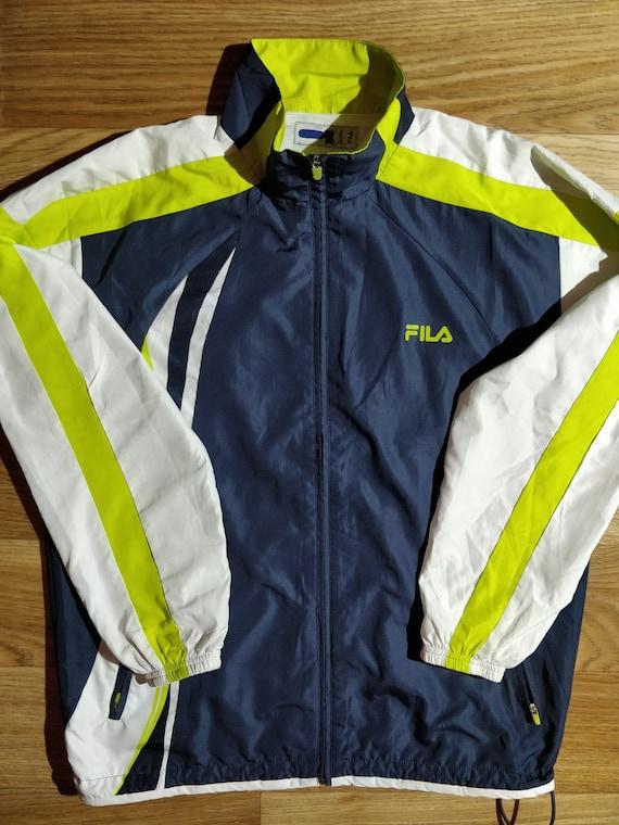Fila 90er Vintage Herren Trainingsanzug oben Jacke