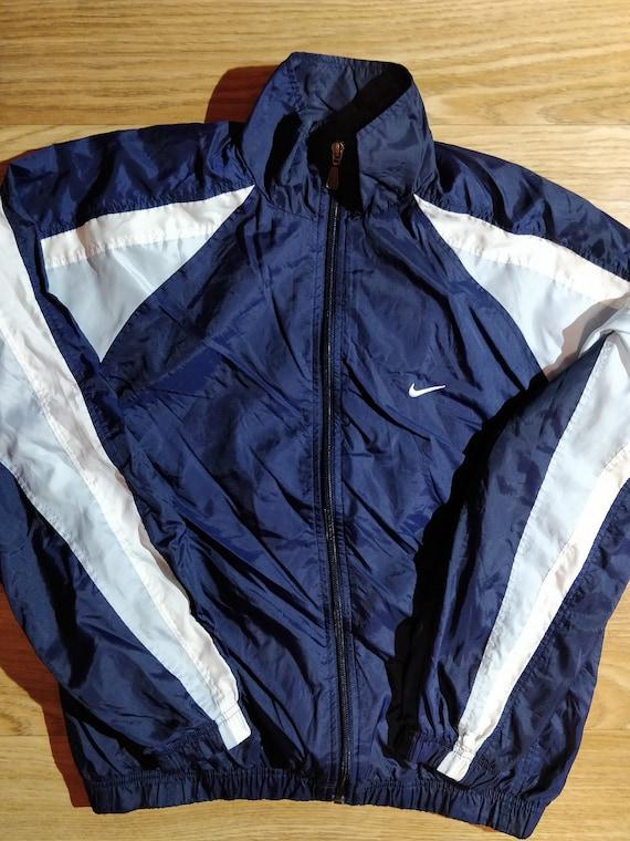1c55125f51 Nike Vintage Womens Tracksuit Top Jacket Windbreaker Navy Blue