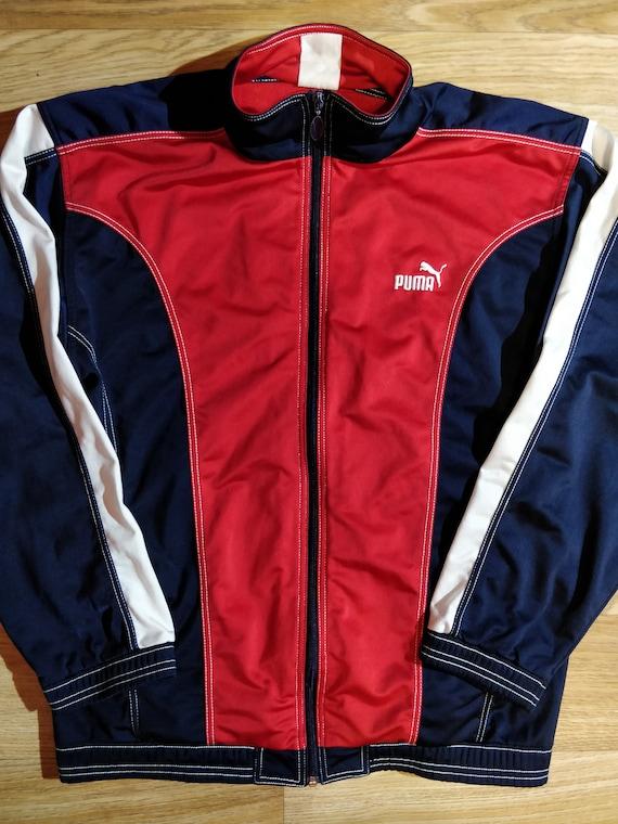 PUMA 90er Vintage Herren Trainingsanzug oben Jacke