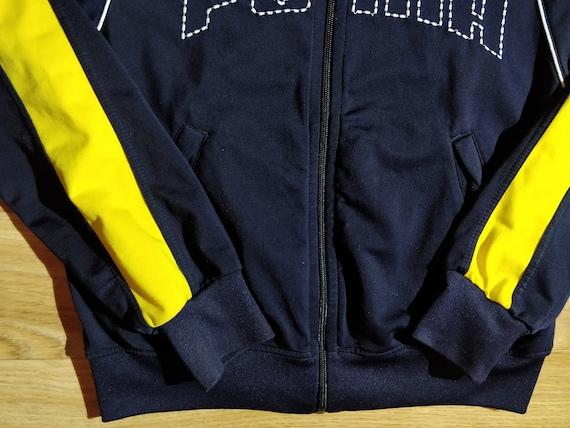 Adidas 90er Vintage Herren Trainingsanzug oben Jacke Navy blau rot